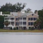 View of a Beaufort home from the water