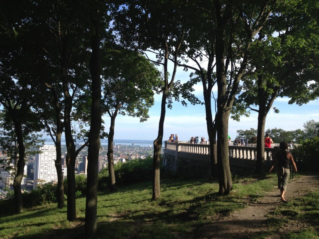 View from the park on Mount Royal