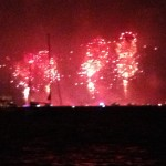 View of Independence Day Fireworks from W. 79th St Boat Basin